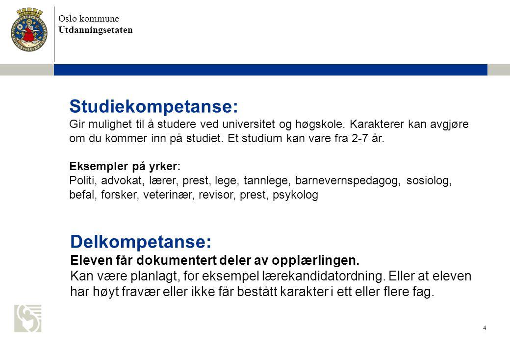 Studiekompetanse: