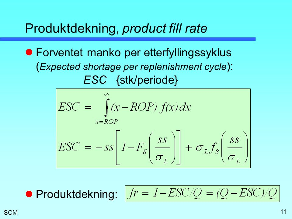 Produktdekning, product fill rate