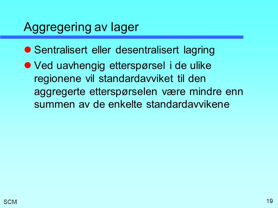 Aggregering av lager Sentralisert eller desentralisert lagring