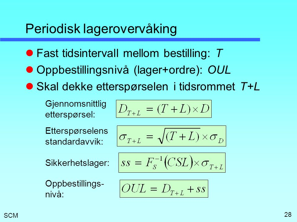 Periodisk lagerovervåking