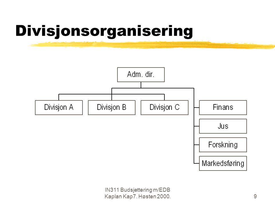 Divisjonsorganisering