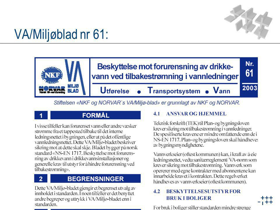 VA/Miljøblad nr 61: