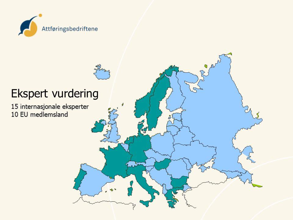 Ekspert vurdering 15 internasjonale eksperter 10 EU medlemsland