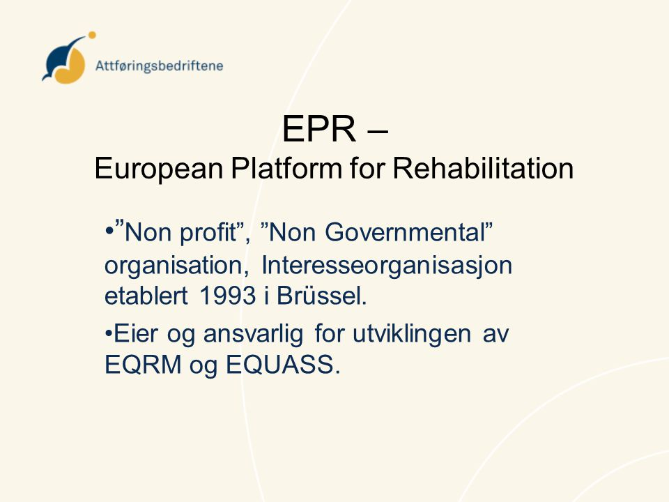 EPR – European Platform for Rehabilitation