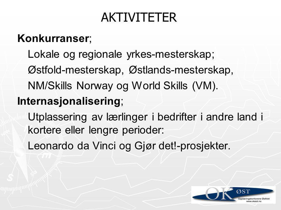 AKTIVITETER Konkurranser; Lokale og regionale yrkes-mesterskap;