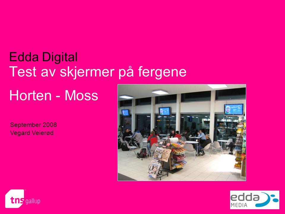 Test av skjermer på fergene Horten - Moss