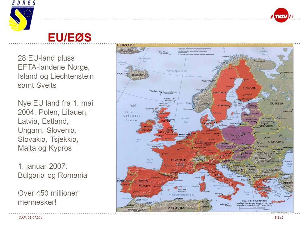 EU/EØS 28 EU-land pluss EFTA-landene Norge, Island og Liechtenstein samt Sveits.