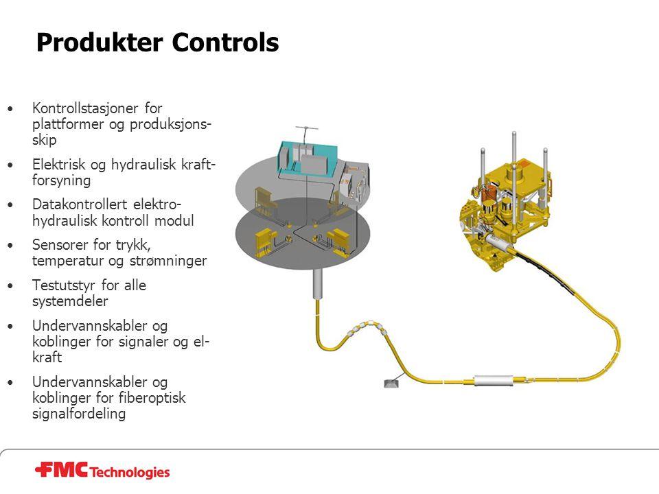 Produkter Controls Kontrollstasjoner for plattformer og produksjons-skip. Elektrisk og hydraulisk kraft-forsyning.
