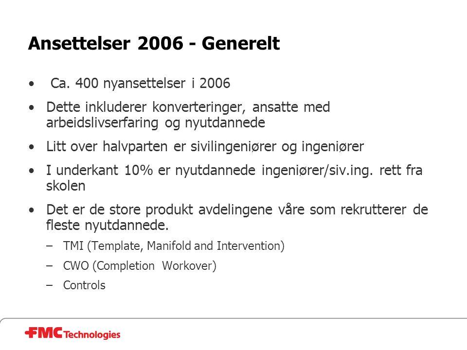 Ansettelser 2006 - Generelt