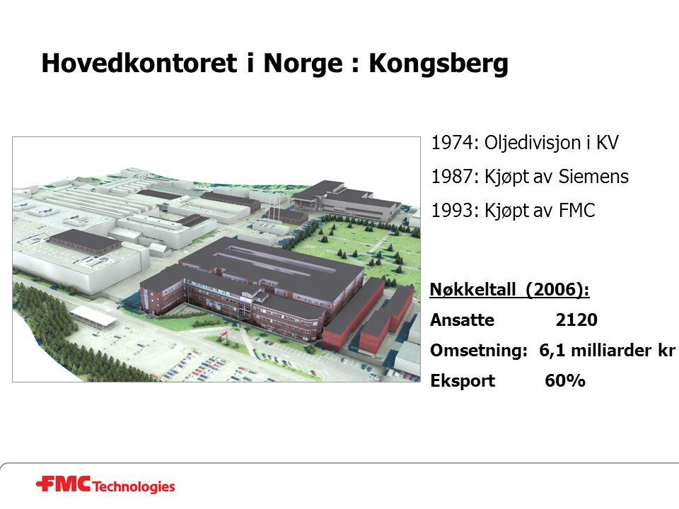 Hovedkontoret i Norge : Kongsberg