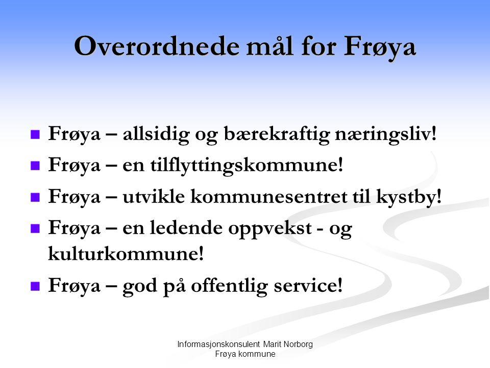 Overordnede mål for Frøya