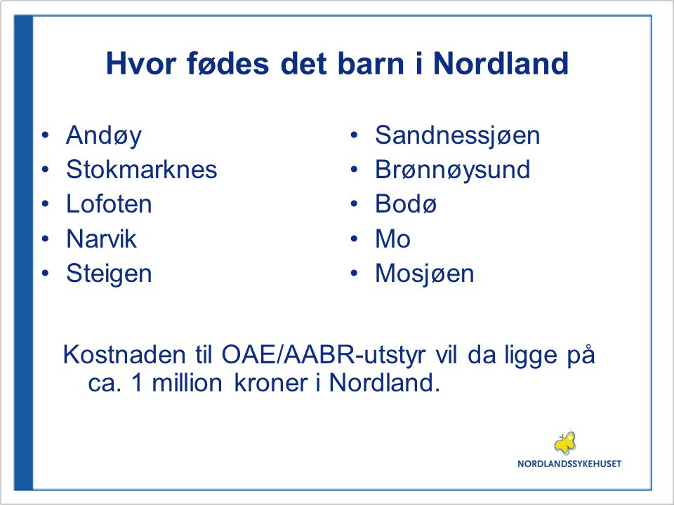 Hvor fødes det barn i Nordland