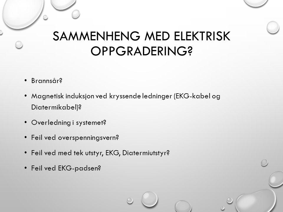 Sammenheng med elektrisk oppgradering