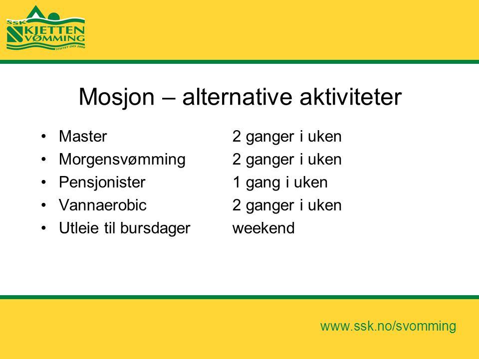 Mosjon – alternative aktiviteter