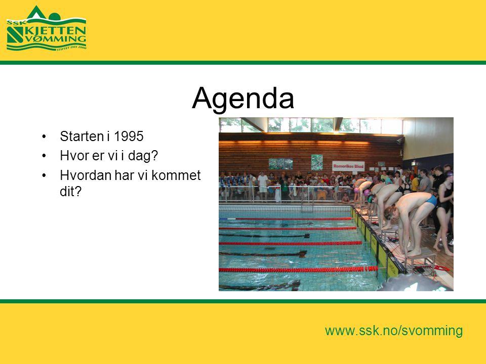 Agenda Starten i 1995 Hvor er vi i dag Hvordan har vi kommet dit