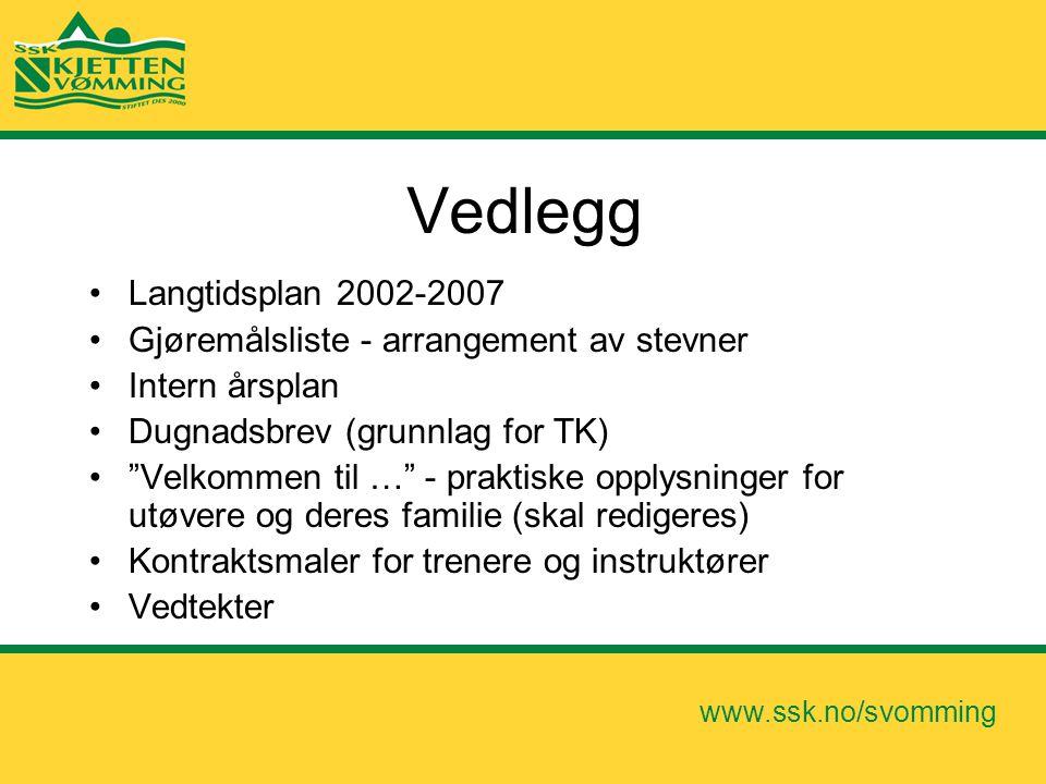 Vedlegg Langtidsplan 2002-2007 Gjøremålsliste - arrangement av stevner