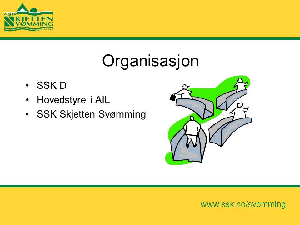 Organisasjon SSK D Hovedstyre i AIL SSK Skjetten Svømming