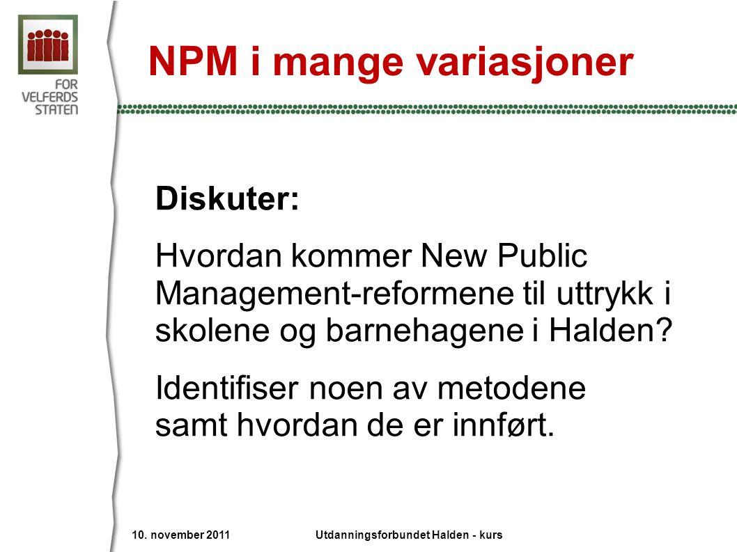 NPM i mange variasjoner