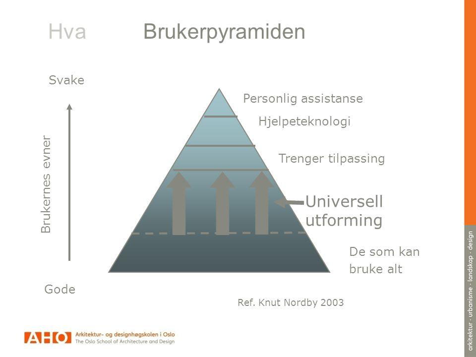 Hva Brukerpyramiden Universell utforming Svake Personlig assistanse