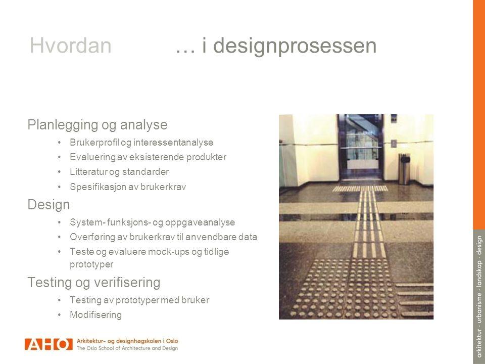 Hvordan … i designprosessen