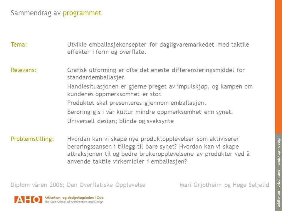 Sammendrag av programmet
