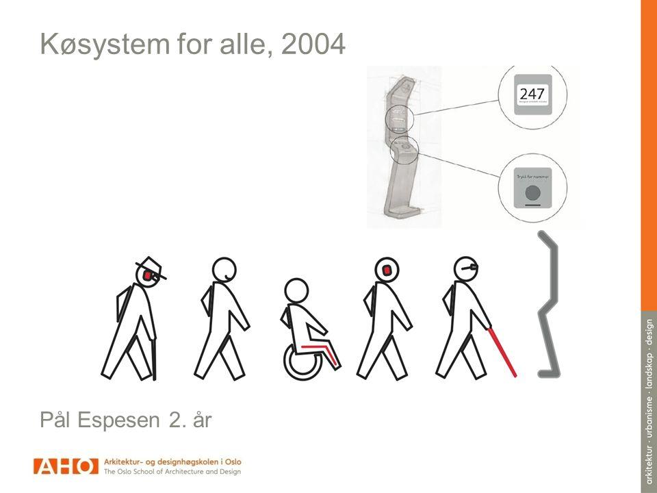 Køsystem for alle, 2004 Pål Espesen 2. år TEsrt