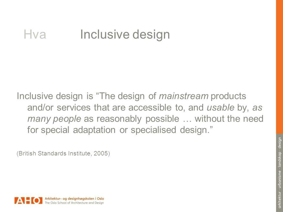 Hva Inclusive design