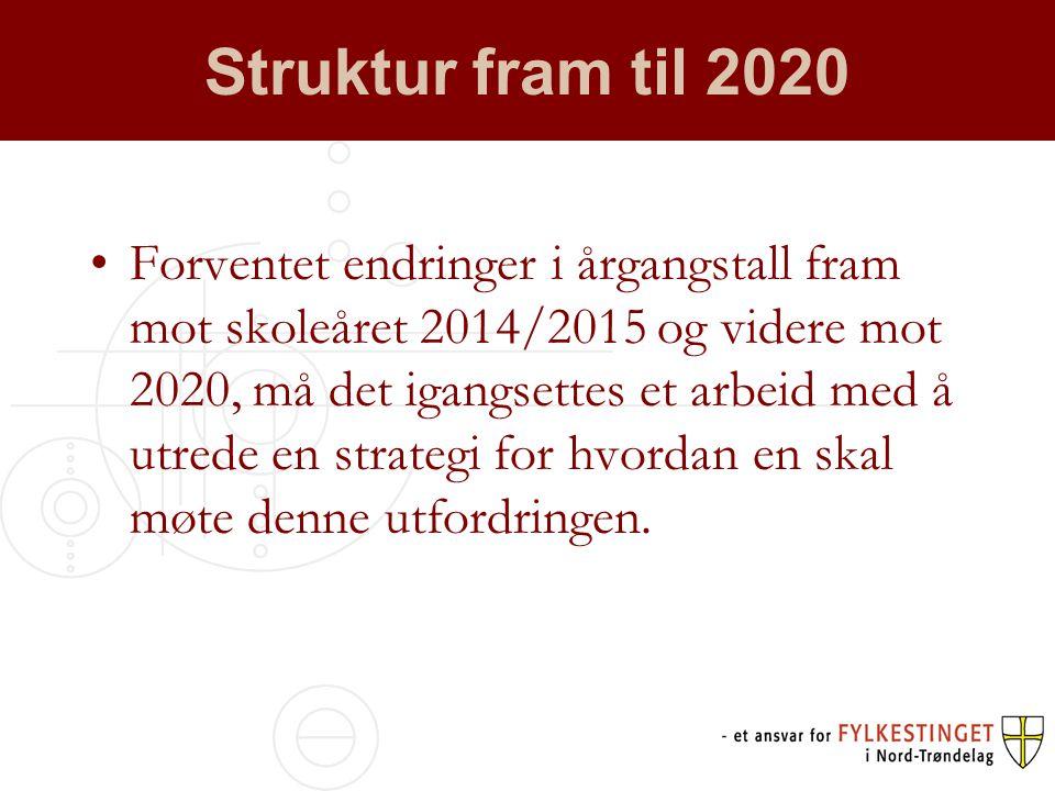 Struktur fram til 2020