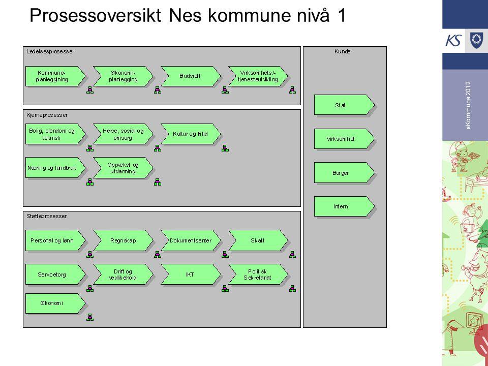 Prosessoversikt Nes kommune nivå 1