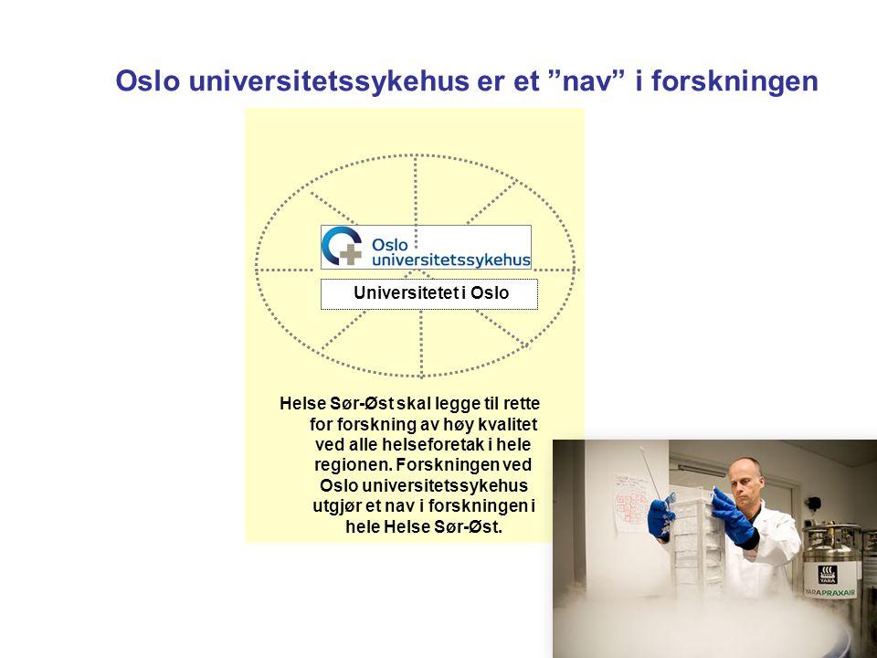 Oslo universitetssykehus er et nav i forskningen