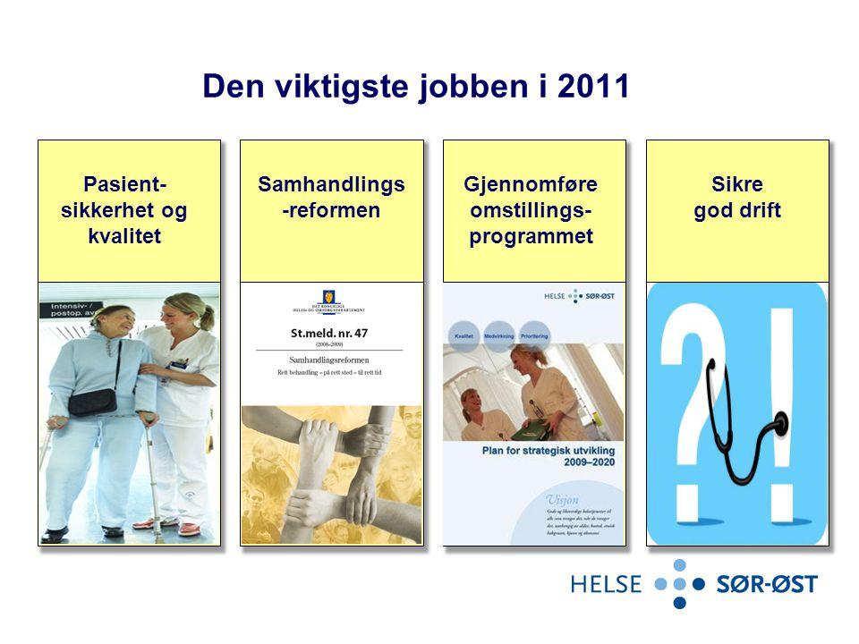 Den viktigste jobben i 2011 Pasient-sikkerhet og kvalitet