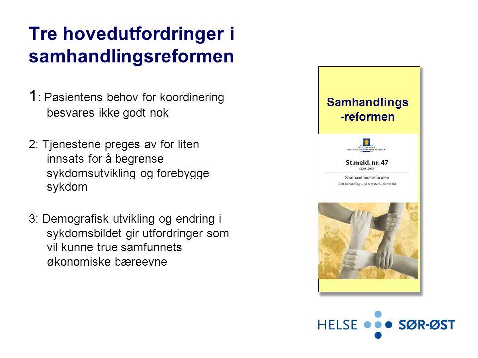 Tre hovedutfordringer i samhandlingsreformen