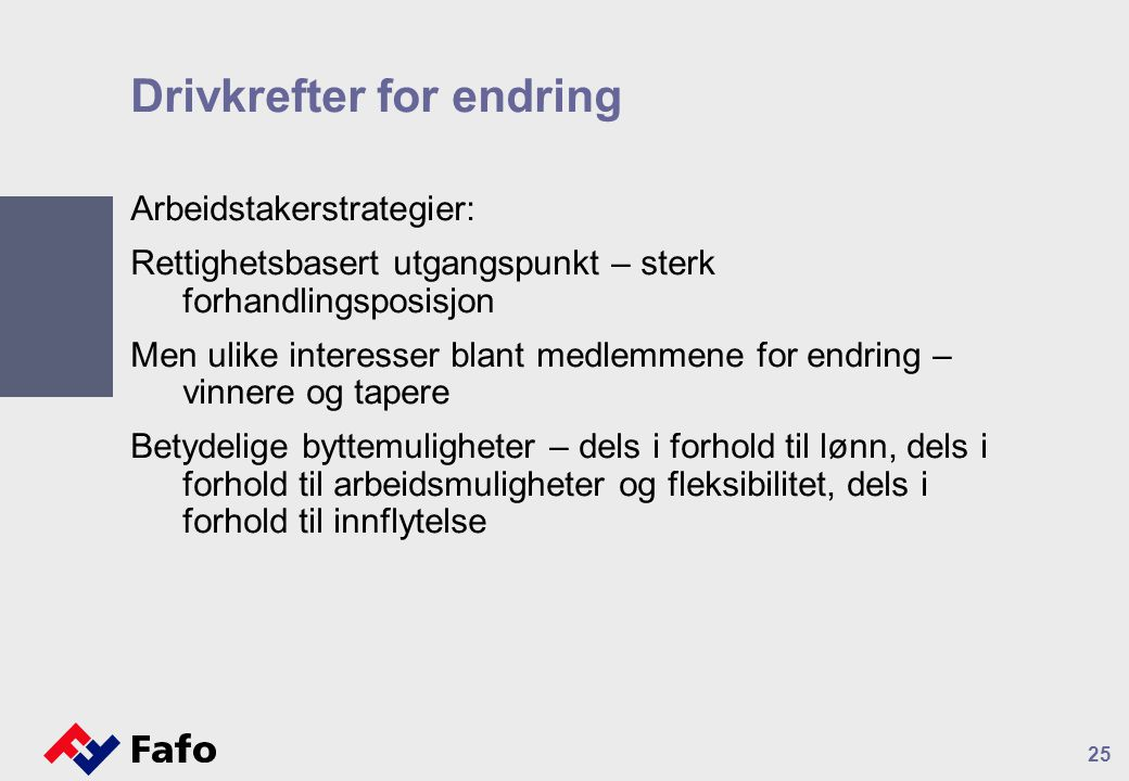 Drivkrefter for endring