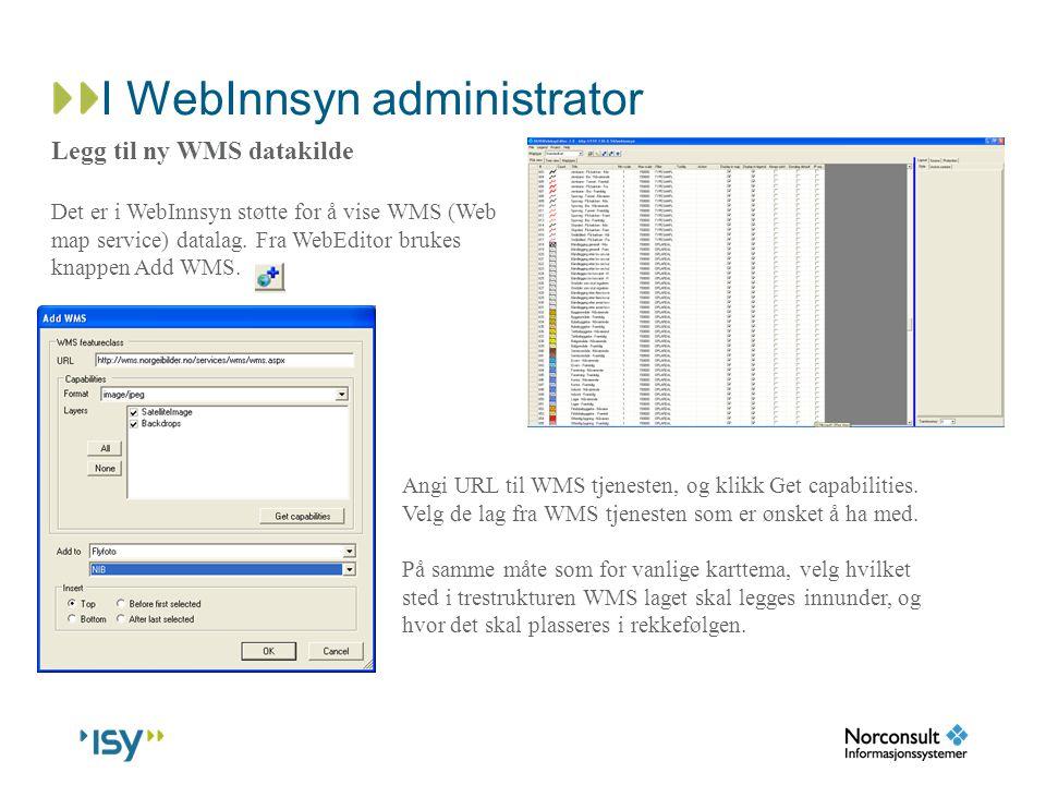 I WebInnsyn administrator