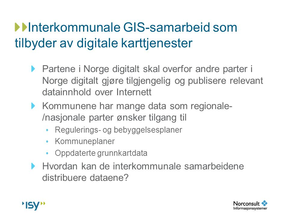 Interkommunale GIS-samarbeid som tilbyder av digitale karttjenester