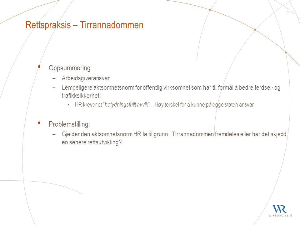 Rettspraksis – Tirrannadommen