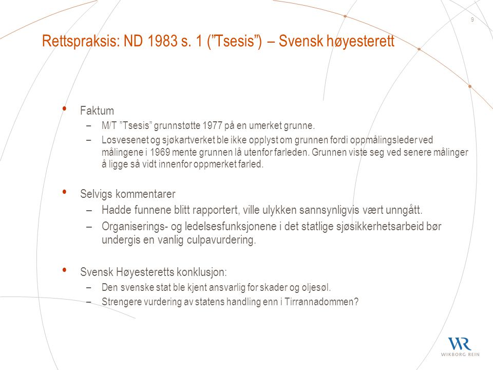 Rettspraksis: ND 1983 s. 1 ( Tsesis ) – Svensk høyesterett