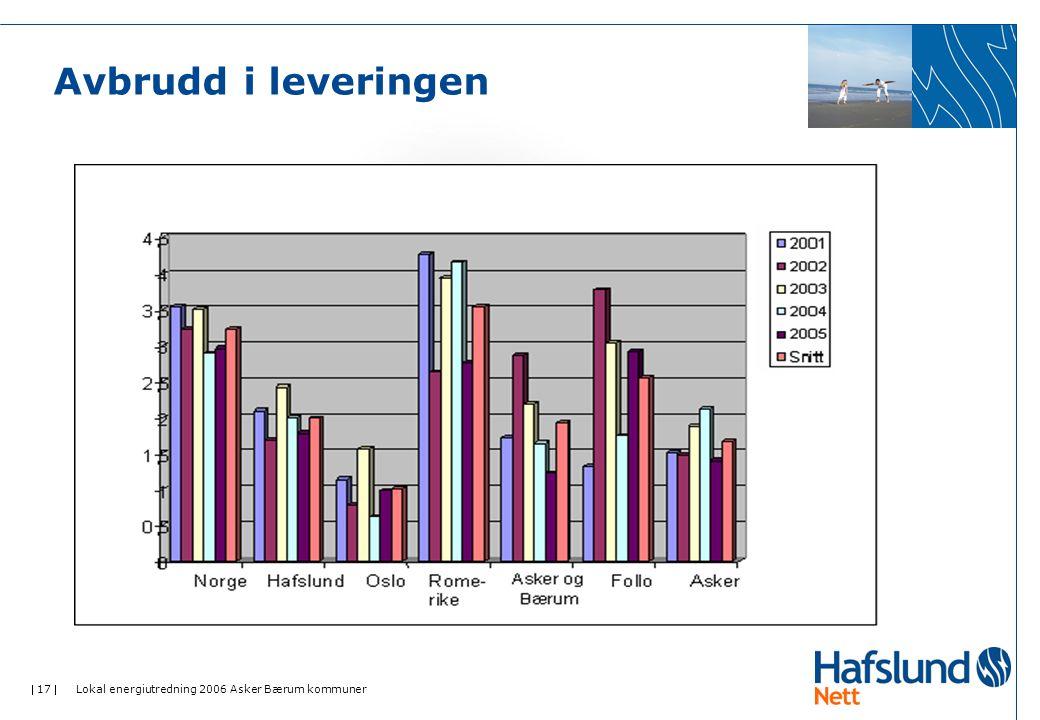 Avbrudd i leveringen Lokal energiutredning 2006 Asker Bærum kommuner