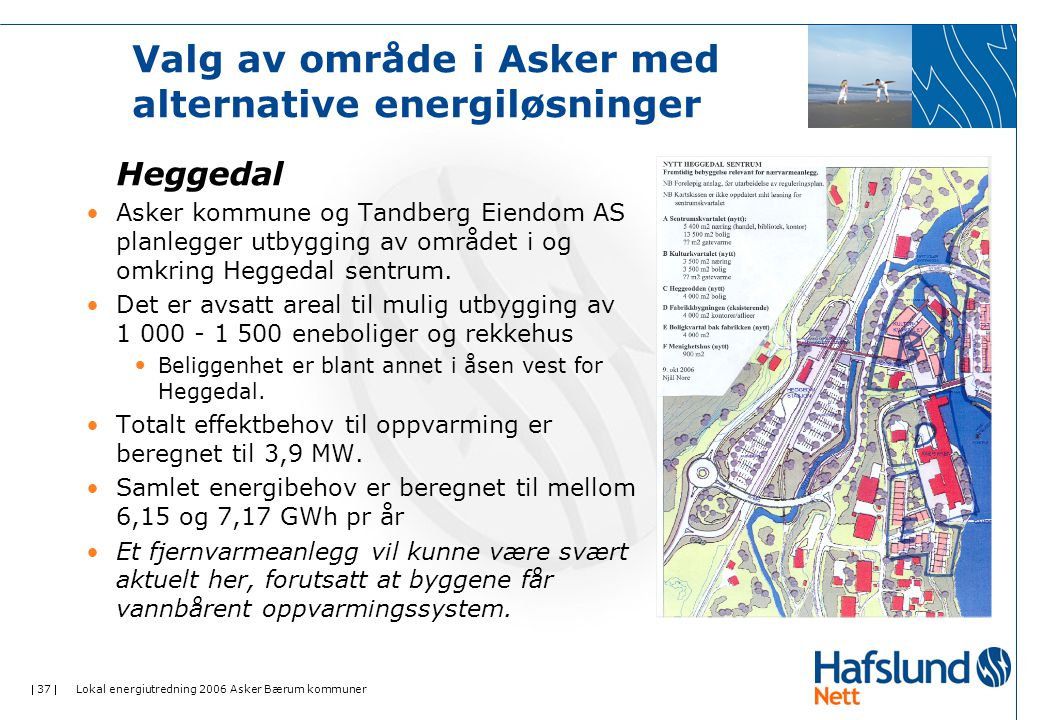 Valg av område i Asker med alternative energiløsninger
