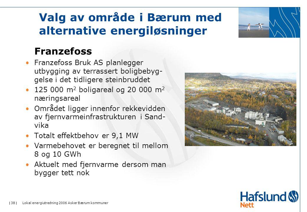 Valg av område i Bærum med alternative energiløsninger