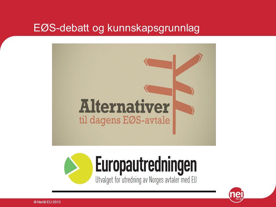 EØS-debatt og kunnskapsgrunnlag