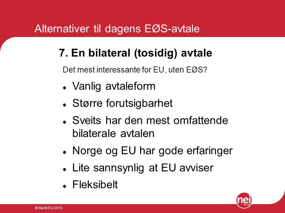 Alternativer til dagens EØS-avtale