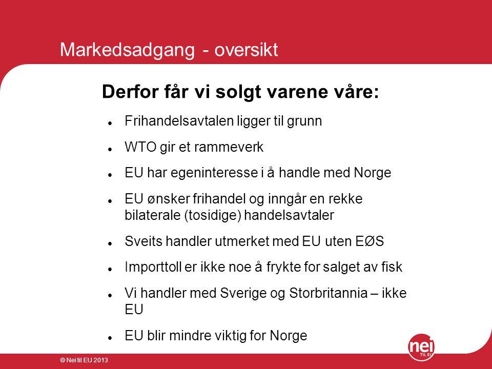 Markedsadgang - oversikt