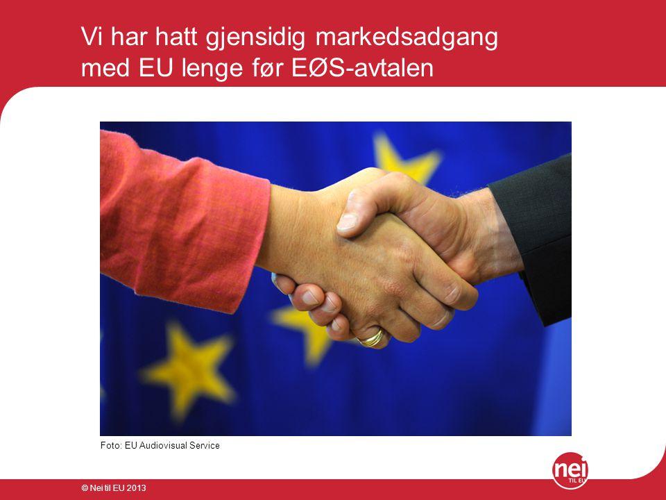 Vi har hatt gjensidig markedsadgang med EU lenge før EØS-avtalen