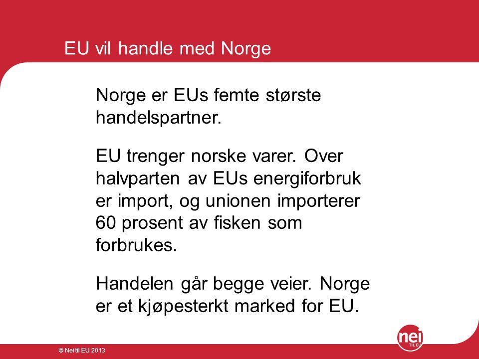 Norge er EUs femte største handelspartner.