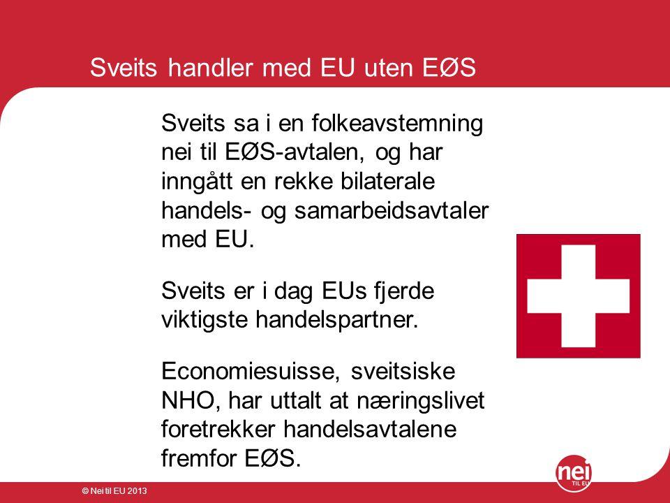 Sveits handler med EU uten EØS