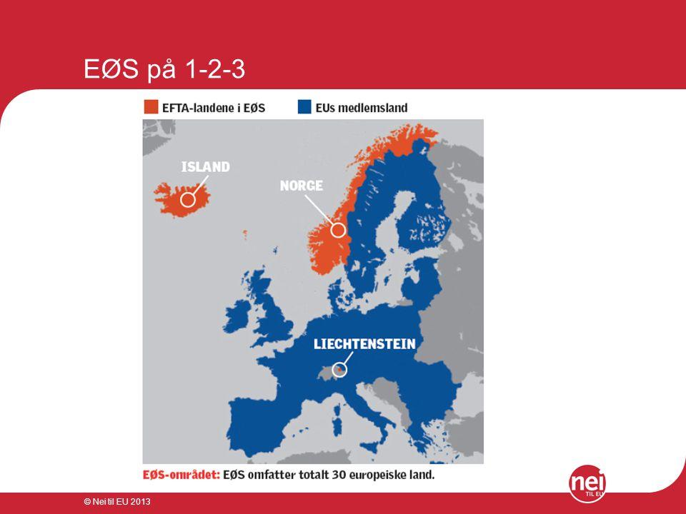 EØS på 1-2-3 © Nei til EU 2013