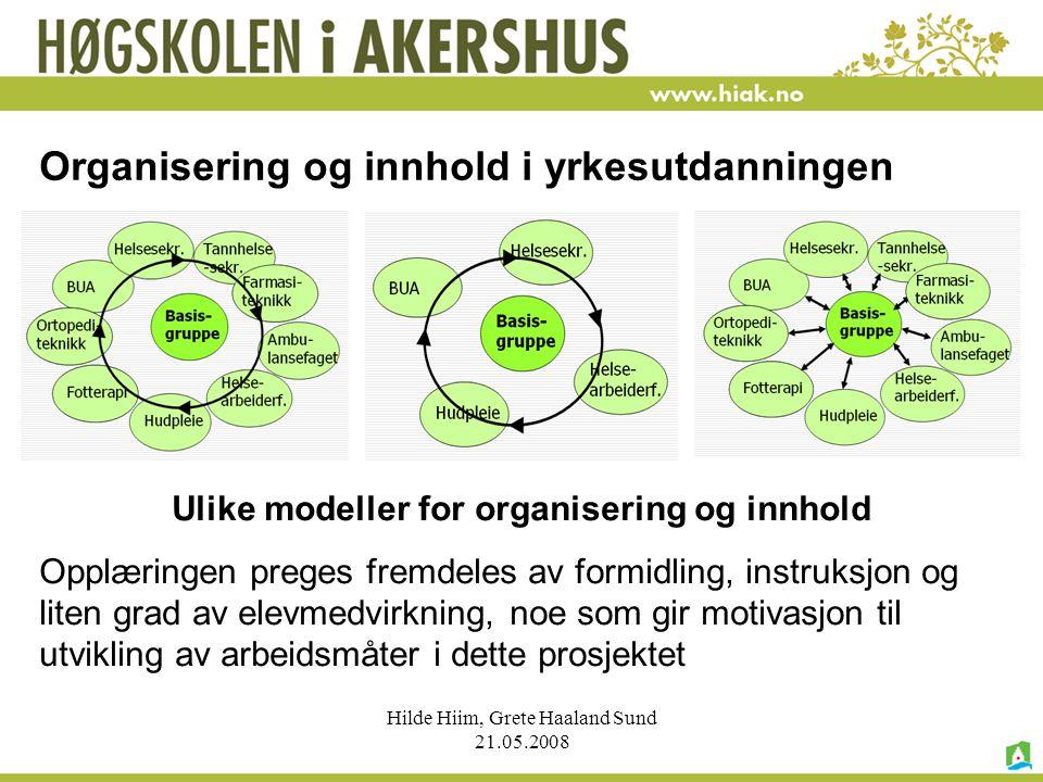 Organisering og innhold i yrkesutdanningen