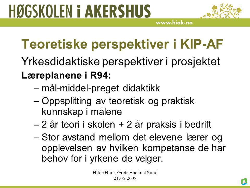Teoretiske perspektiver i KIP-AF
