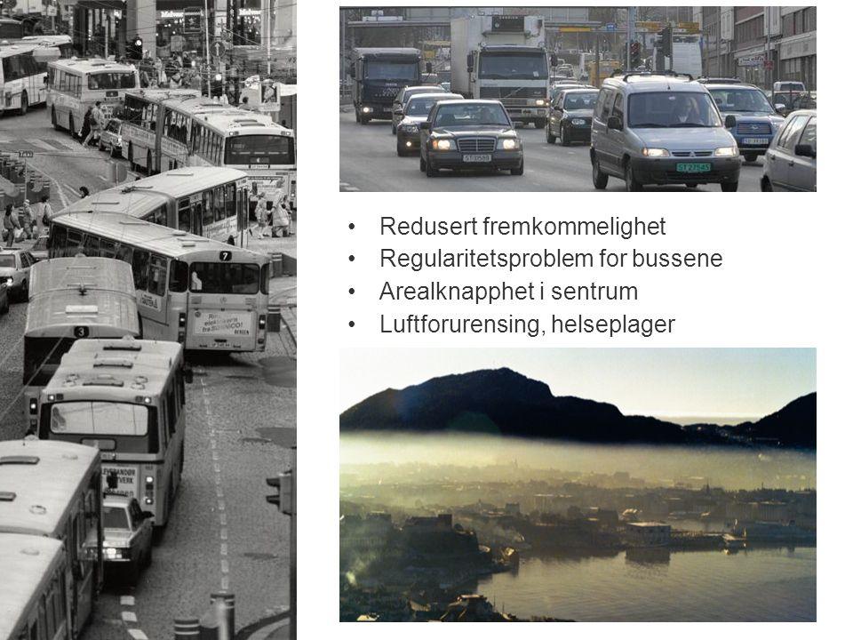 Redusert fremkommelighet Regularitetsproblem for bussene